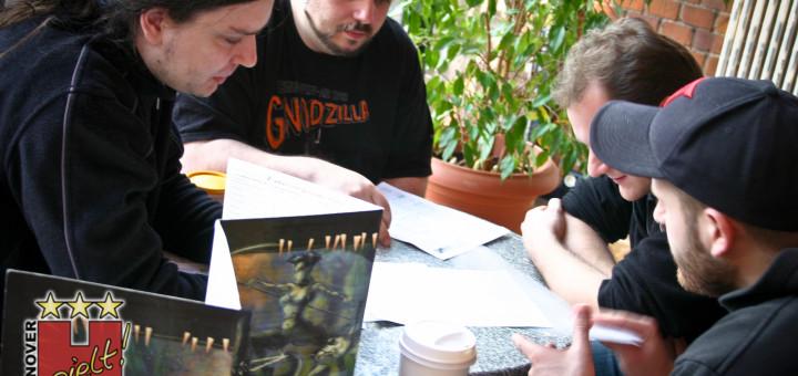 Cyberpunk-Runde im Café der Bürgerschule.